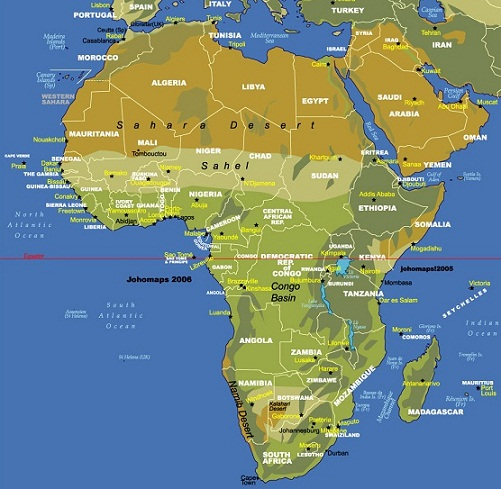 Maps of Africa Pictures and Information